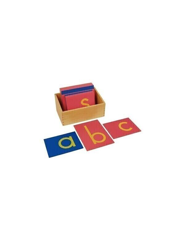 MontessoriSamuserAutrement - Lettres rugueuses minuscules d'imprimerie