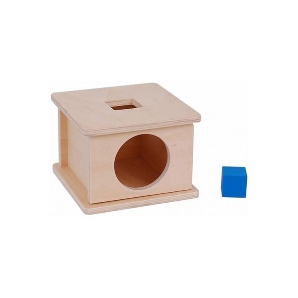 MontessoriSamuserAutrement - Boite d'encastrement cube bleu