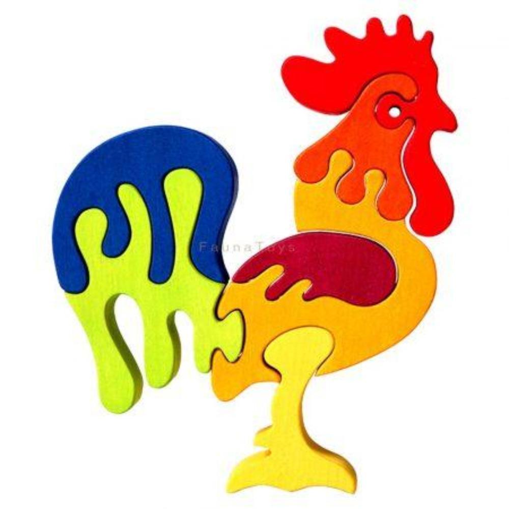 Faunatrade - Puzzle 3D Coq en Bois