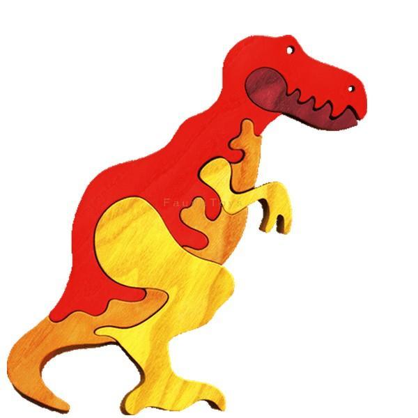 Faunatrade - Puzzle 3D T-Rex en bois