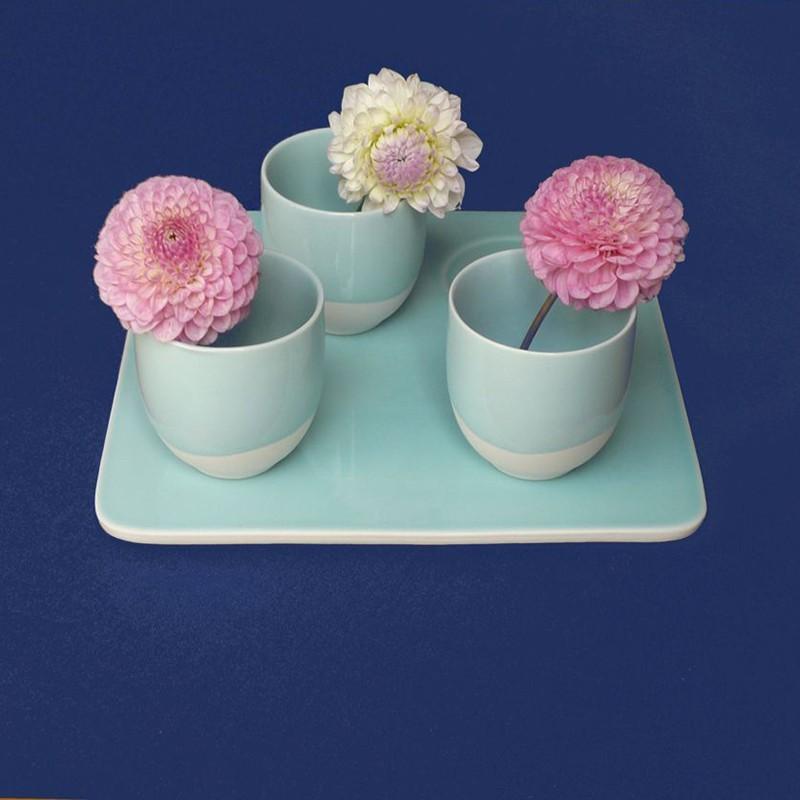 Fleur de Soleil - Nappe enduite Unie bleu royal - ronde diam 160cm
