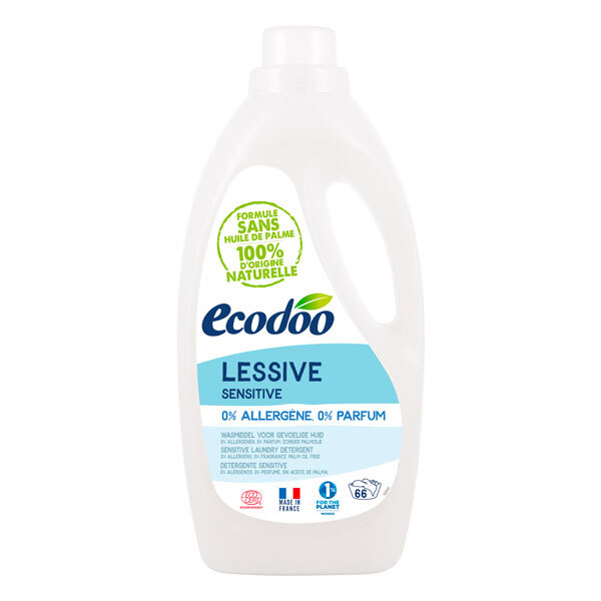 Ecodoo - Lessive liquide hypoallergénique Sensitive 2L