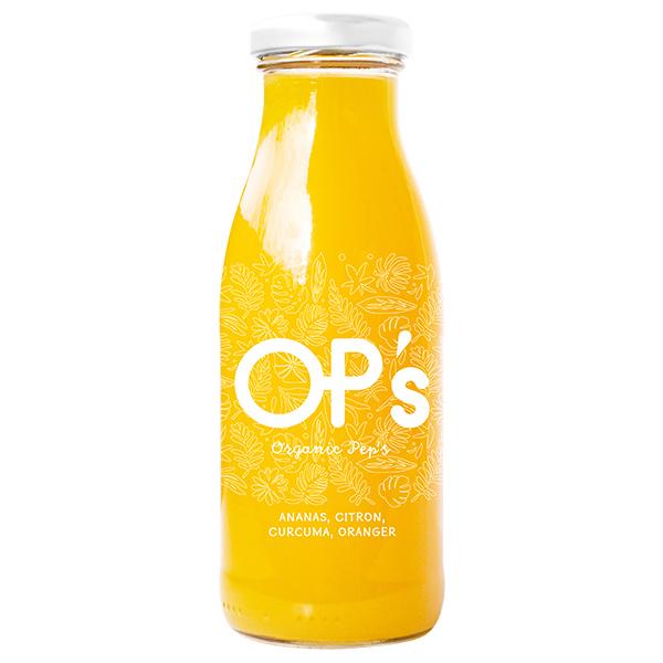 Organic Pep's - Ananas - Citron Vert - Fleurs d'Oranger - Curcuma