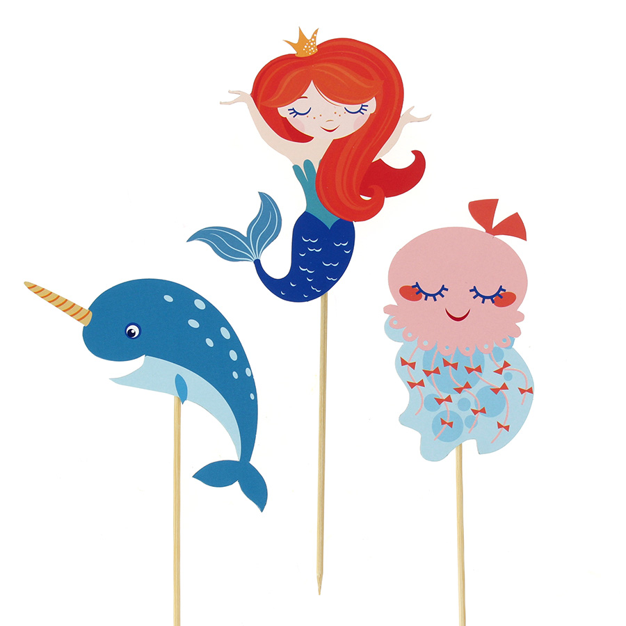 Annikids - Cake Toppers Sirène Corail - Recyclable