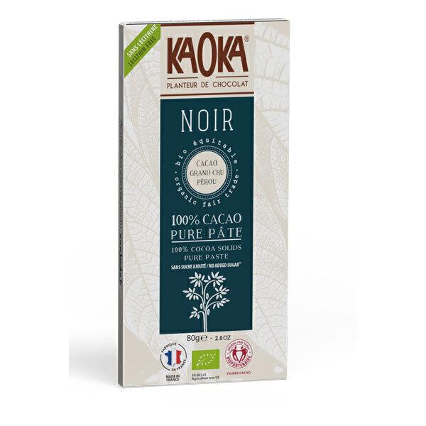 Kaoka - Tablette chocolat noir 100% cacao Pérou 100g