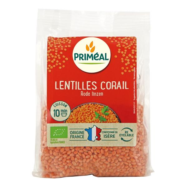 Priméal - Lentilles corail origine France 250g