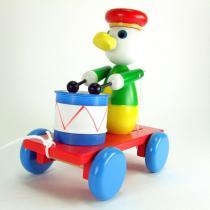 Aba factory - Chariot à tirer avec son canard musicien