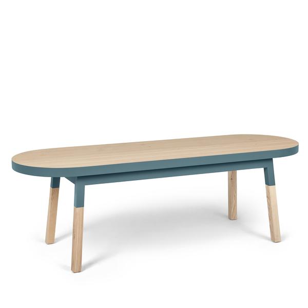 Mon petit meuble français - Dos de canapé banc en frêne massif 140x45 cm