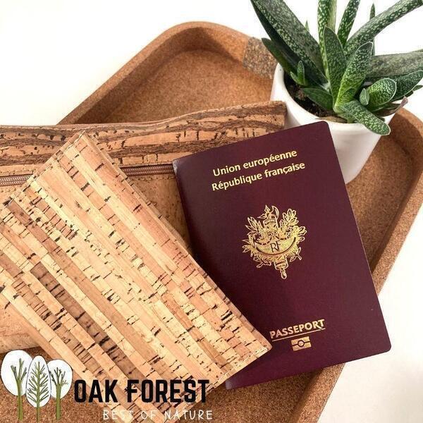 OAK Forest - Etui Passeport liege naturel - Protection passeport Vegan