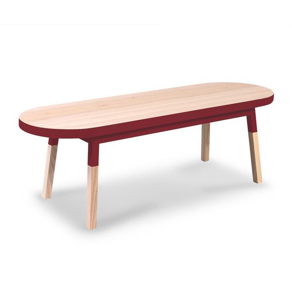 Mon petit meuble français - Table basse banc, 100% frêne massif 140x45 cm