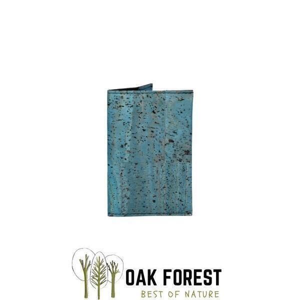 OAK Forest - Etui Passeport liege bleu - Protection passeport Vegan