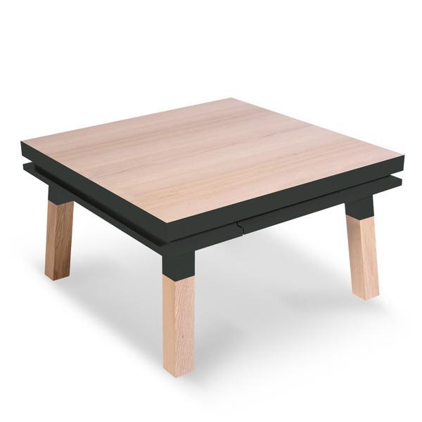 Mon petit meuble français - Table basse carrée 100% frêne massif 90x90 cm