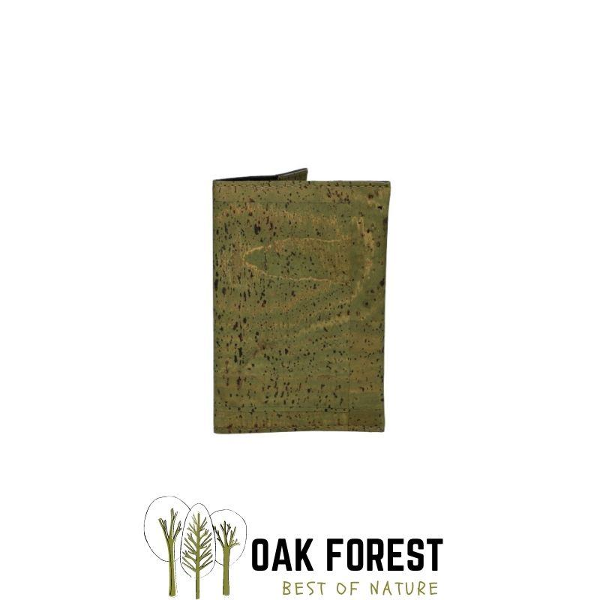 OAK Forest - Etui Passeport liege kaki - Protection passeport Vegan