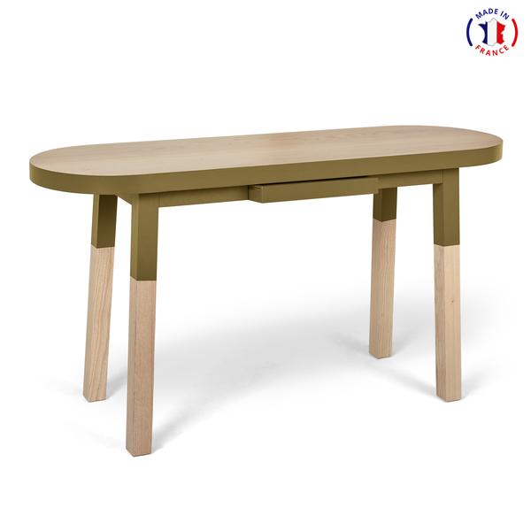 Mon petit meuble français - Bureau Console 100% frêne massif 100x45 cm