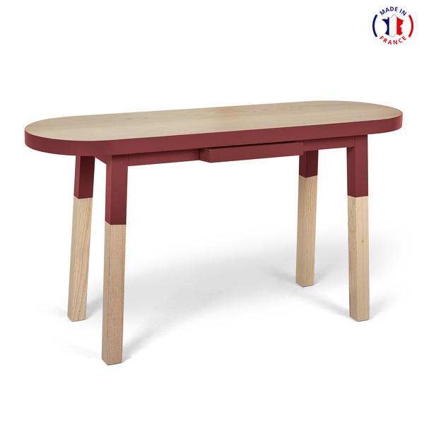 Mon petit meuble français - Bureau Console 100% frêne massif 140x45 cm