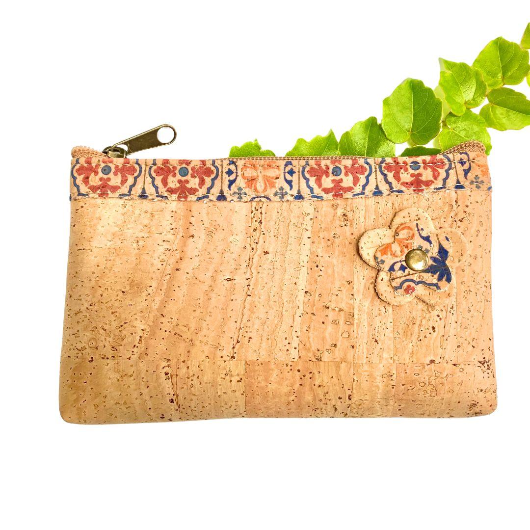 """OAK Forest - Pochette Vegan - Trousse en liege artisanal """"Mandala"""""""