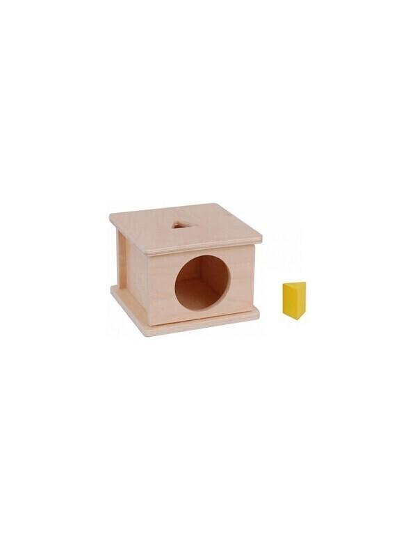 MontessoriSamuserAutrement - Boite d'encastrement triangle jaune