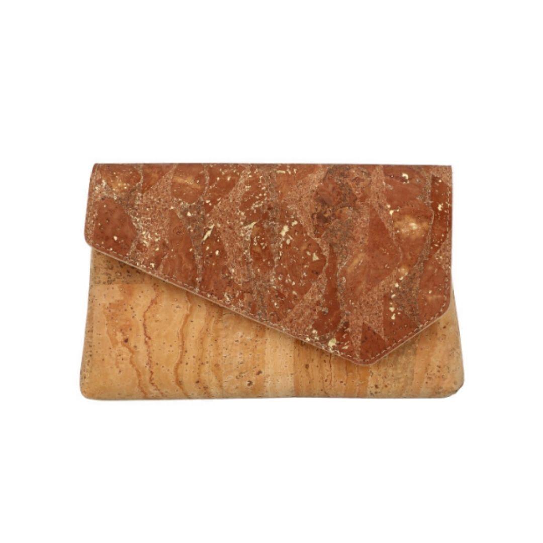 "OAK Forest - Pochette à main vegan en liège naturel ""Bella Doré"""