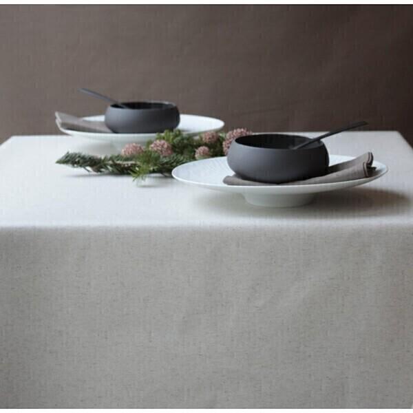 Fleur de Soleil - Nappe enduite Unie lin/coton - Rectangle 160x240cm