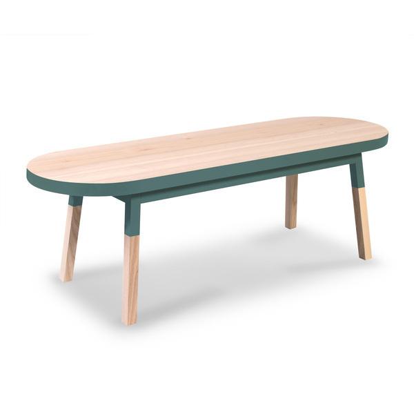 Mon petit meuble français - Meuble TV banc frêne massif 140x45 cm