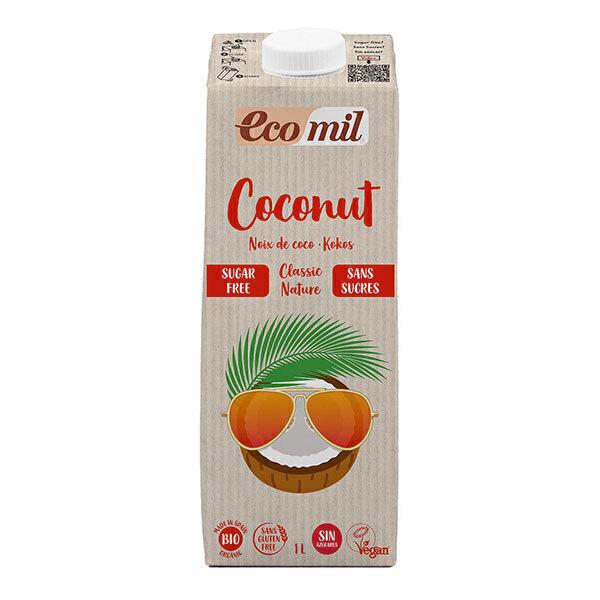 EcoMil - Lait coco Classic Nature sans sucres bio 1L