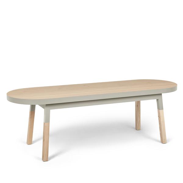 Mon petit meuble français - Bout de lit banc en frêne massif 140x45 cm