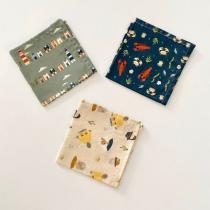 ernest&lulu - Lot de 3 mouchoirs en tissu bio - collection armelle&malo