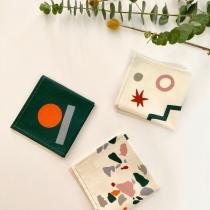ernest&lulu - Lot de 3 mouchoirs en tissu bio - collection jeannebernard