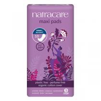 Natracare - Lot de 3 boites de serviettes maxi Nuit x10