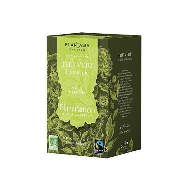 PLANTASIA - Élimination Thé Vert Bio - 18 sachets