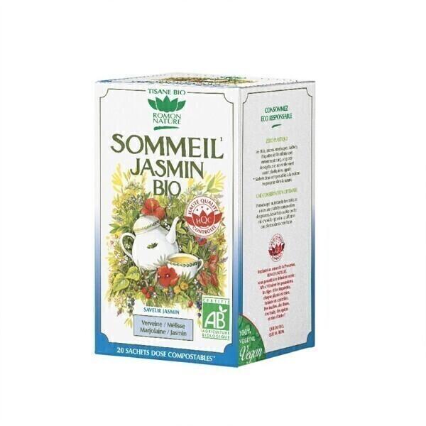 Romon Nature - Tisane Sommeil jasmin bio - 20 sachets