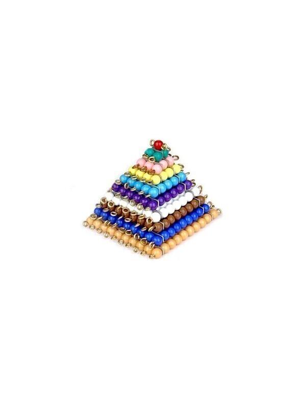 MontessoriSamuserAutrement - Carrés des perles colorées