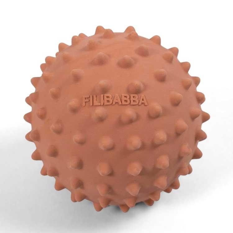 FILIBABBA - Balle sensorielle Nor en caoutchouc naturel Melon