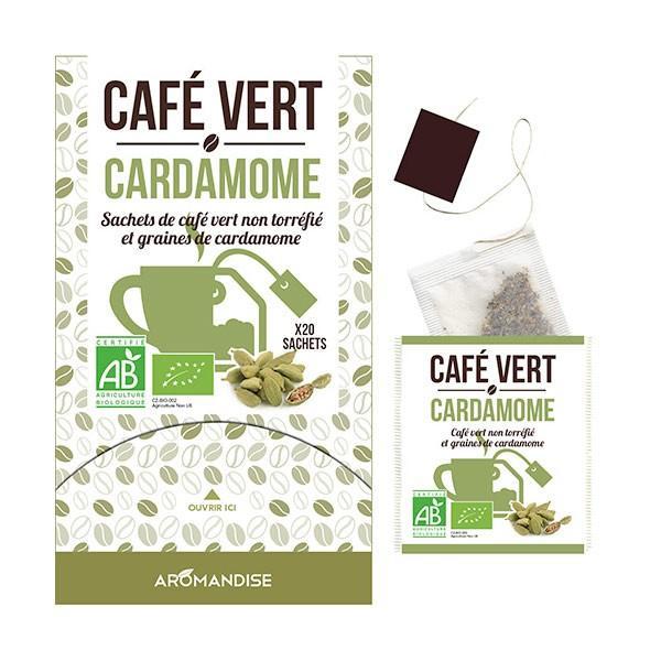 Aromandise - Café vert Cardamome - 20 sachets