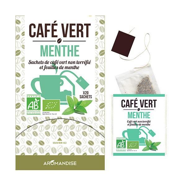 Aromandise - Café vert Menthe - 20 sachets