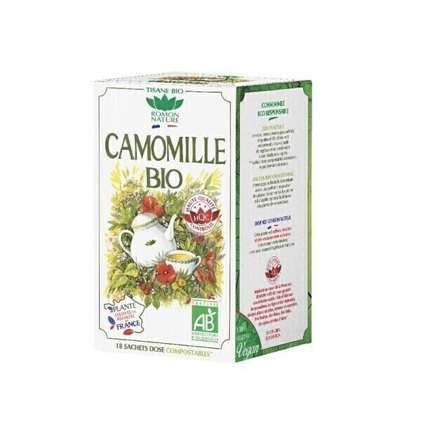 Romon Nature - Tisane Camomille France bio - 18 sachets