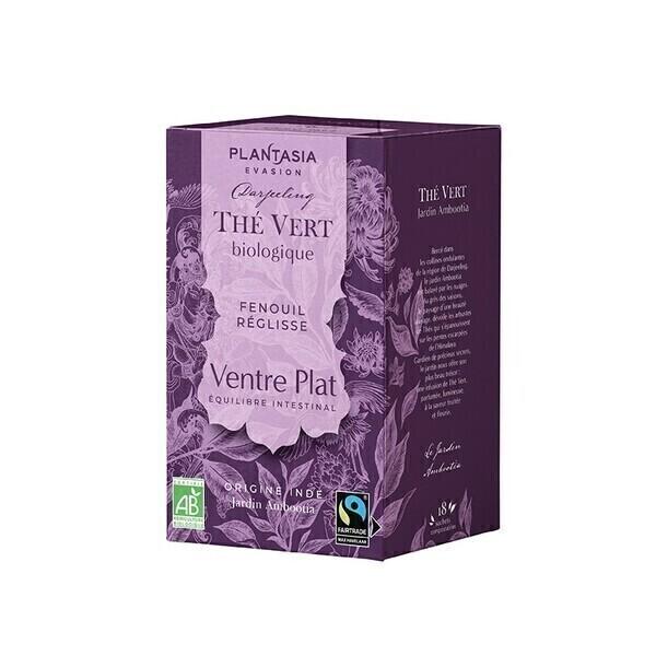 PLANTASIA - Ventre plat Thé Vert Bio - 18 sachets