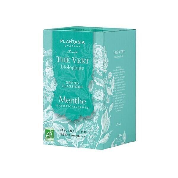 PLANTASIA - Thé vert Menthe Bio - 18 sachets