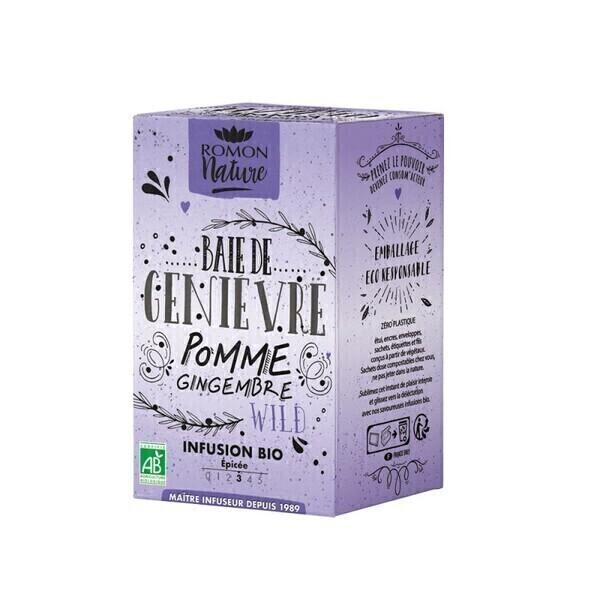 Romon Nature - Infusion Baie de genièvre bio - 16 sachets