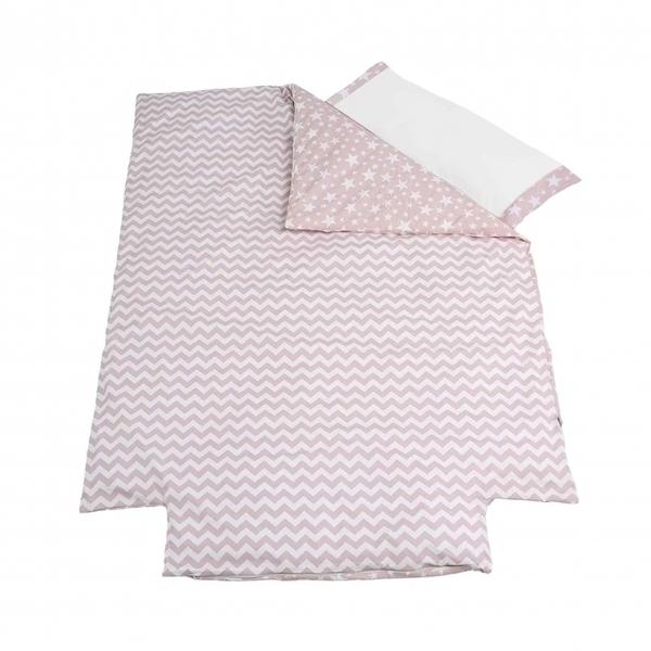 Micuna - Couverture de lit 140x70 et sa taie d'oreiller Tipi house Pink c