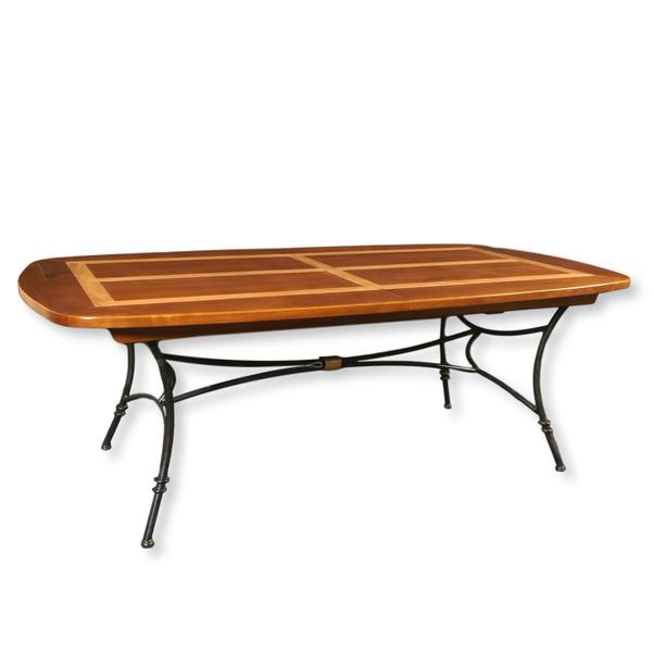 Gontier - Table repas ovalisée piétement fer forgé