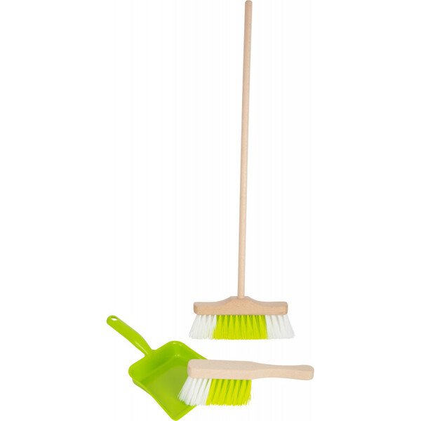 Small Foot - Set de nettoyage avec balai taille enfant