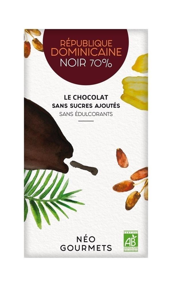 NéoGourmets - République Dominicaine Noir 70% - Chocolat noir 70g