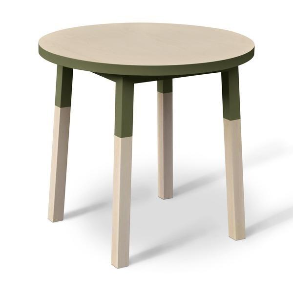 Mon petit meuble français - Table ronde 100% frêne massif 100x100 cm