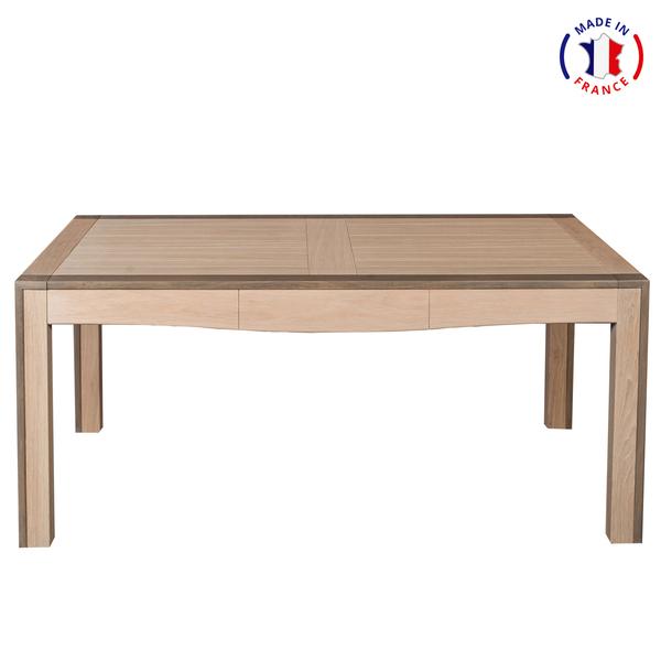 Mon petit meuble français - Table extensible chêne massif 180x100 cm