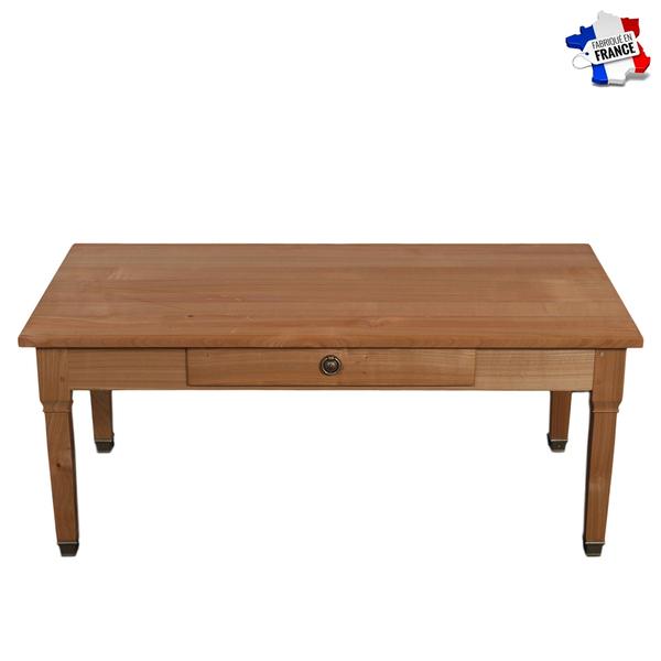 Gontier - Table de salon merisier massif 100% Fabrication Française