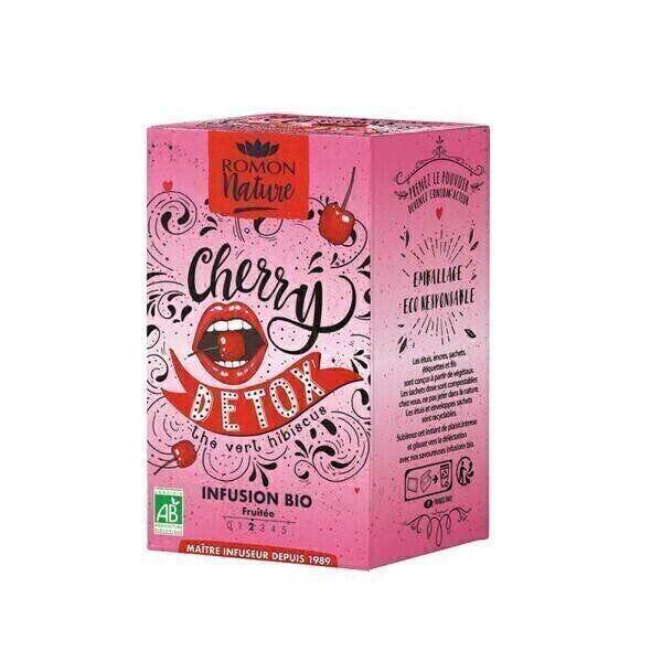 Romon Nature - Infusion Cherry Detox  bio - 16 sachets