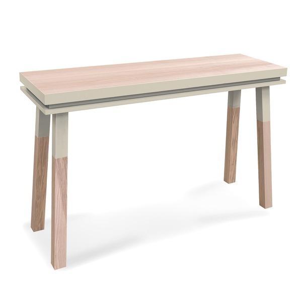 Mon petit meuble français - Console rectangulaire en frêne massif 140x45 cm