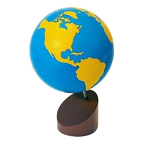 MontessoriSamuserAutrement - Globe rugueux Terres et Mers