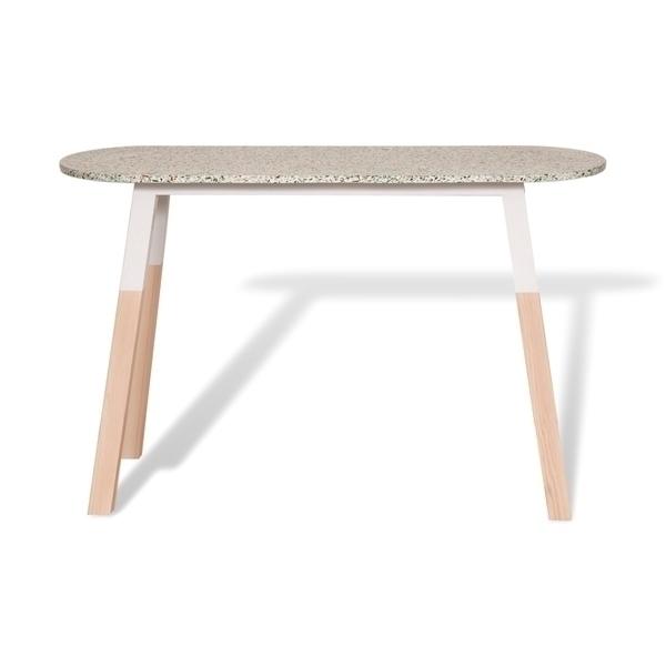Mon petit meuble français - Console Terrazzo et frêne massif 140 x 45 cm